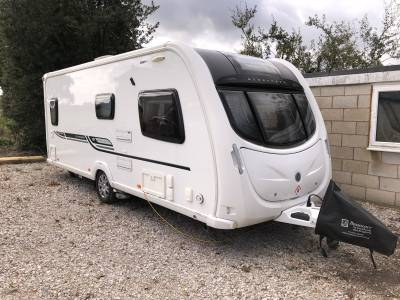 2014 Bessacarr Cameo 570 4 Berth End Washroom Fix Bed Caravan For Sale
