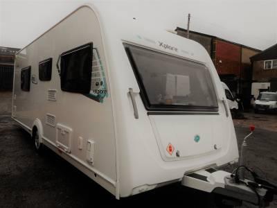 Elddis Xplore 554 2018, 4 Berth Fixed Island Bed Caravan With Motor Mover, For Sale.