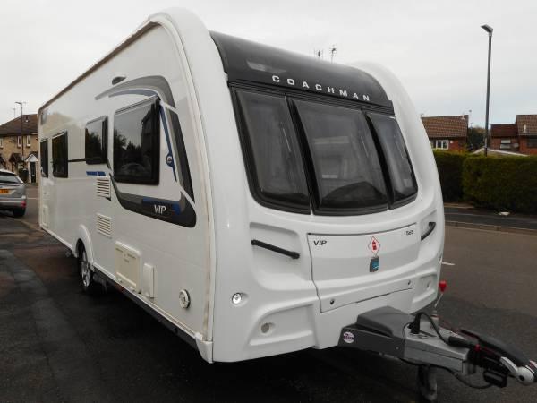Coachman VIP 565 2016, 4 Berth Twin Fixed Bed, End Washroom Caravan