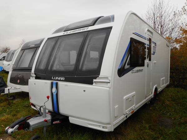 Lunar Clubman SI 2018, 4 Berth Fixed Bed Caravan With Alde Heating and Motor Mover For Sale