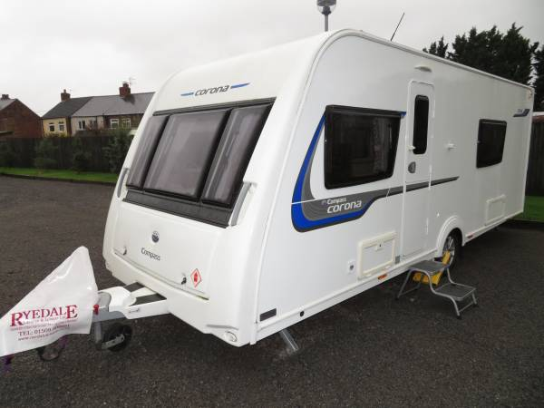 Compass Carona 574 2015 4 Berth Caravan For Sale Alde Heating F/S/H