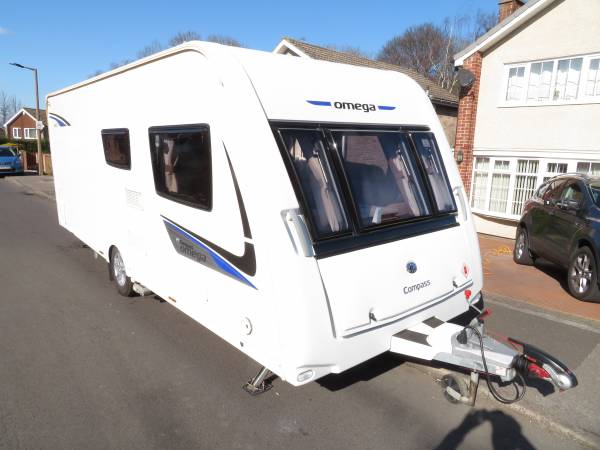 Compass Omega 540 2014 4 Berth Caravan For Sale Alde Heating, Motor Mover