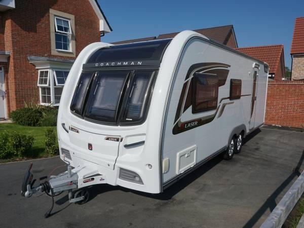 Coachman Laser 620-4 berth family caravan bunks end bathroom