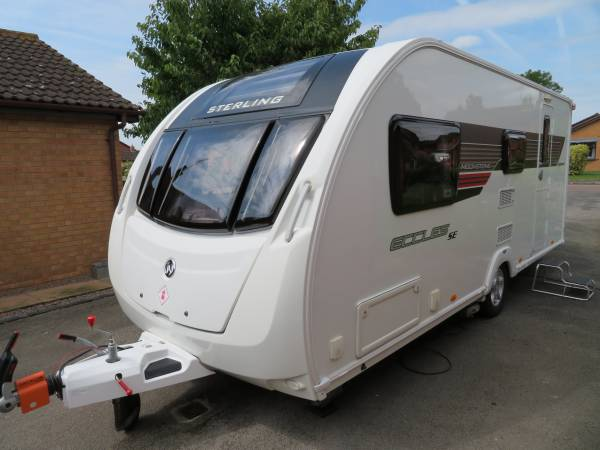 Sterling Eccles Moonstone SE 2013 End Washroom 4 Berth Caravan For Sale